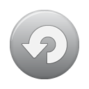 button grey repeat Png Icon
