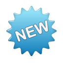 label blue new Png Icon