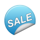 sticker blue sale Png Icon