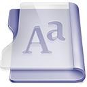 Purple font Png Icon