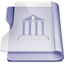 Purple library Png Icon