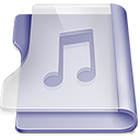 Purple music large png icon