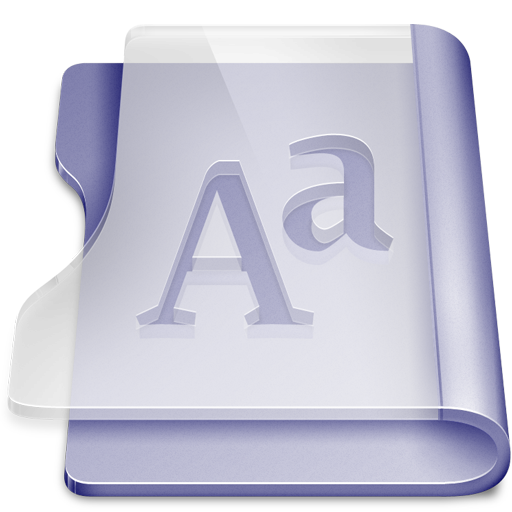 Purple font large png icon