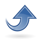 blue up Png Icon