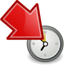 move participant to waiting red Png Icon