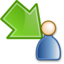move waiting to participant green Png Icon