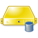 server database yellow Png Icon