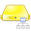 server directory yellow Png Icon