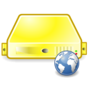 server web yellow Png Icon