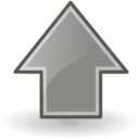 up grey Png Icon