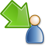 move waiting to participant green large png icon
