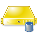 server database yellow large png icon
