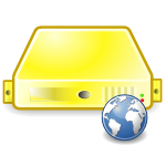 server web yellow large png icon