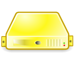 server yellow large png icon