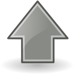 up grey large png icon