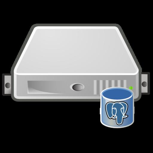 server database postgres large png icon