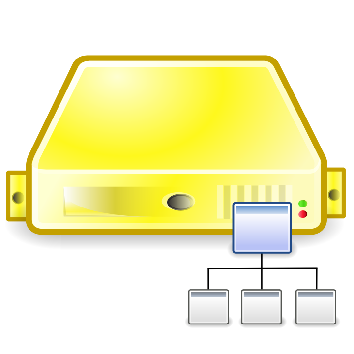 server directory yellow large png icon