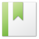 bookmark green png icon