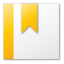 bookmark yellow Png Icon