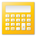 calculator yellow Png Icon