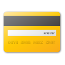 credit card yellow Png Icon