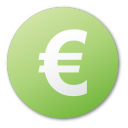 currency euro green png icon