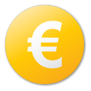 currency euro yellow Png Icon