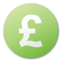 currency pound green Png Icon