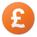 currency pound red Png Icon