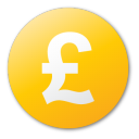 currency pound yellow Png Icon