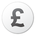 currency pound Png Icon
