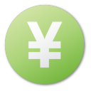 currency yuan green Png Icon
