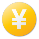 currency yuan yellow png icon