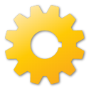 gear yellow Png Icon