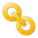 hyperlink yellow png icon