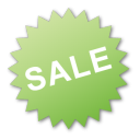 label sale green Png Icon