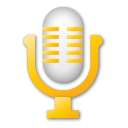 microphone yellow Png Icon