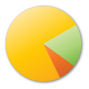pie chart yellow Png Icon