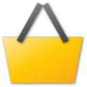 shopping basket yellow Png Icon