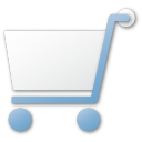 shopping cart blue Png Icon