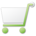shopping cart green png icon
