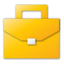suitcase yellow Png Icon