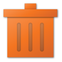 trash red Png Icon