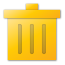 trash yellow png icon