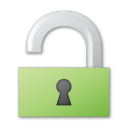 unlock green png icon