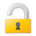 unlock yellow Png Icon