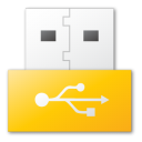 USB yellow png icon