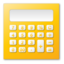 calculator yellow large png icon