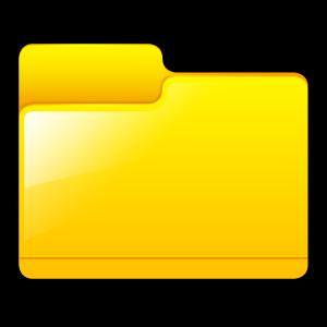 Generic Folder Yellow large png icon