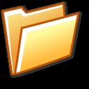 Open folder orange Png Icon
